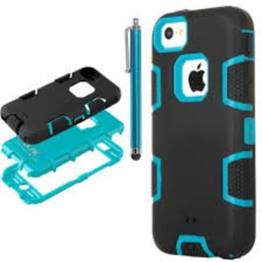 iPhone 5C Case, ULAK Hybrid Soft Silicone Hard Inner Case Cover for Apple iPhone 5C with Screen Protector and Stylus