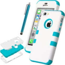 iPhone 5C Case, ULAK Colorful Heavy Duty Hybrid Hard Case Cover For Apple iPhone 5C with Screen Protector and Stylus