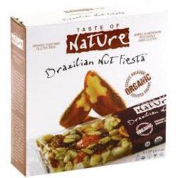 Taste Of Nature Organic Fruit And Nut Bar Brazilian Nut Fiesta