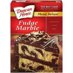 Duncan Hines Moist Deluxe Fudge Marble Mix