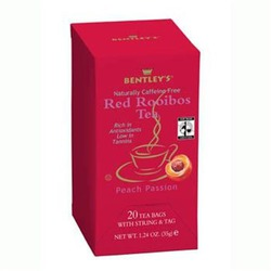 Bentley's Finest Teas Fair Trade Certified Peach Passion Rooibos Red Tea