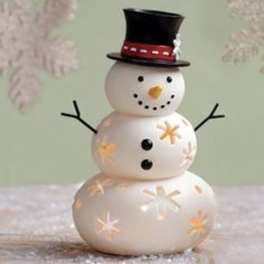 Partylite Snowman Tealight Holder
