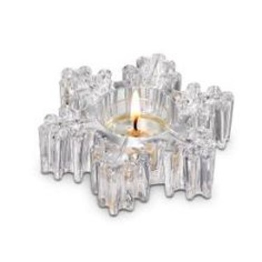 Partylite Glass Snowflake Tealight Holder