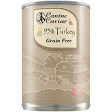 Canine Caviar 95% Turkey Grain-Free Canned Dog Food