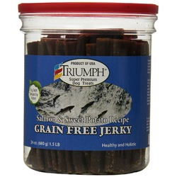 Triumph Grain Free Salmon & Sweet Potato Jerky Dog Treats