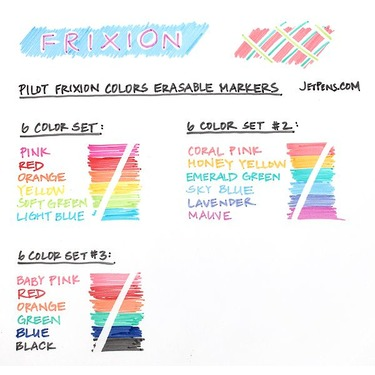 Frixion Erasable Pens and Markers