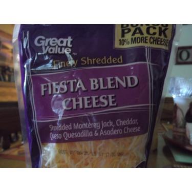 Great Value Fiesta Blend Shredded Cheese