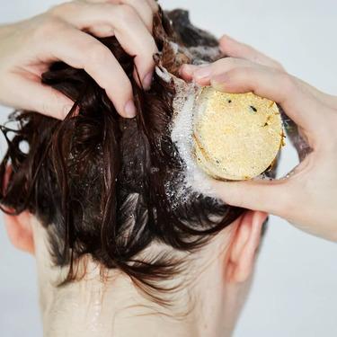 Lush Soak and Float Solid Shampoo Bar
