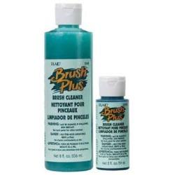Plaid Brush Plus Brush Cleaner
