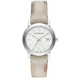 Burberry ladies Watch Stainless Steel Silver dial 34mm Bu9132