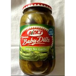 Bicks Baby Dills Pickles Tangy No Garlic