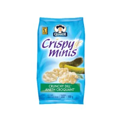 Quaker Crispy Minis Crunchy Dill Flavour Rice Chips