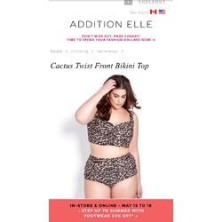 Additionelle Cactus Twist Front Bikini Top