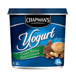 Chapmans Frozen Yogurt Crispy Peanut Butter Crunch