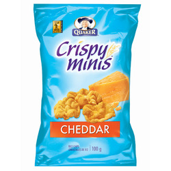 Quaker Crispy Minis cheddar rice chips