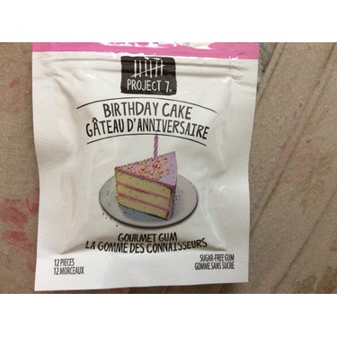 Project  Birthday Cake Gum Review