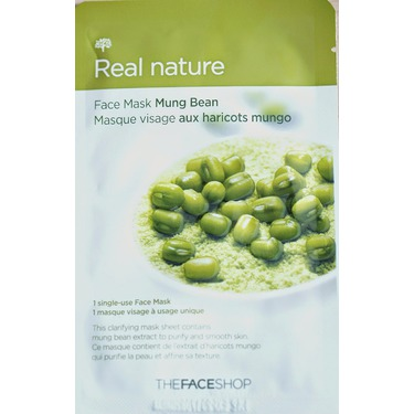 The Face Shop Real Nature Mask in mung bean