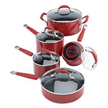 KitchenAid Cookware Set Red 10 Pc
