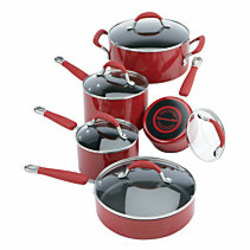 KitchenAid Cookware Set Red 10 Pc