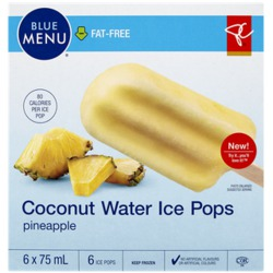PC Blue Menu Coconut Water Pineapple Ice Pops