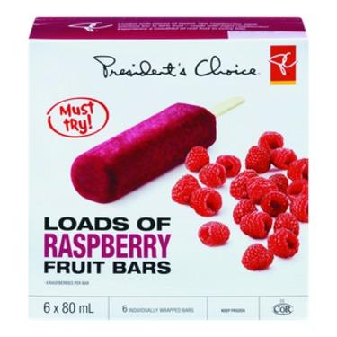 PC Loads of Raspberry Frozen Fruit Bars