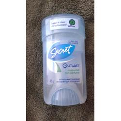 secret outlast clear gel unscented