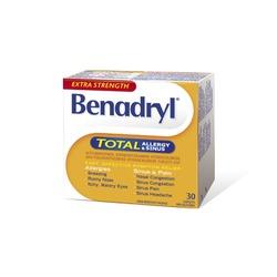 EXTRA STRENGTH Benadryl* TOTAL ALLERGY & SINUS
