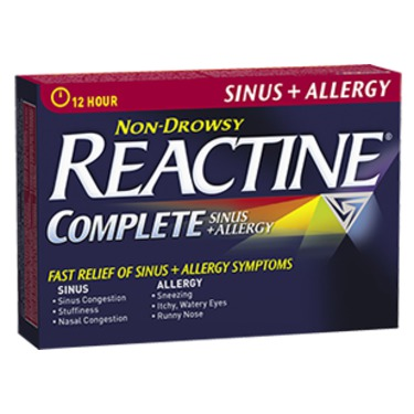 REACTINE COMPLETE Sinus + Allergy Extended Release Tablets