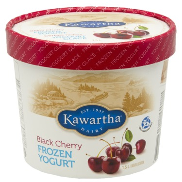 Kawartha Dairy Black Cherry Frozen Yogurt