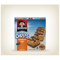 Quaker Dipps Rainbow Chip Granola Bars