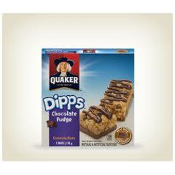Quaker Dipps Chocolate Fudge Granola Bars
