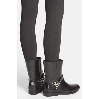 Michael Kors- Black Fulton Harness Rain Boot