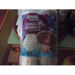 Great Value Chocolate & Vanilla Ice Cream Cups