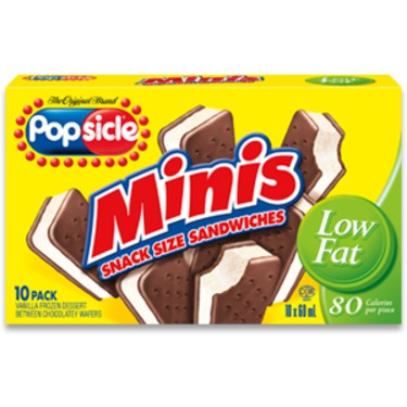 Popsicle Minis Snack Size Sandwiches