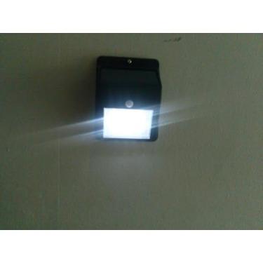 Eonfine Latest 8 LED PIR Motion Sensor Solar Power Light Night Garden Wall Pathway Lamp