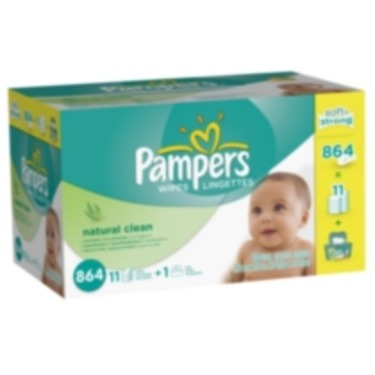 Pampers Natural Clean Wipes