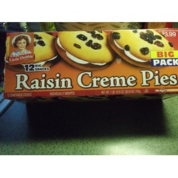 Little Debbie Raisin Creme Pie