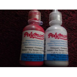 Polymark Red & Silver Fabric Paint