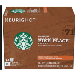 Starbucks Pike Place Medium Roast K-Cups