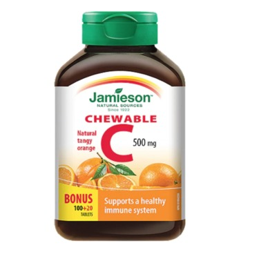 Jamieson Vitamin C Chewable in Orange