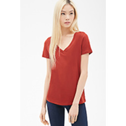 Forever 21 Heathered Knit V-Neck