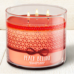Bath & Body Works 3 Wick Candle Peach Bellini