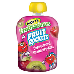 Mott's Fruitsations Fruit Rockets Unsweetened Strawberry-Kiwi