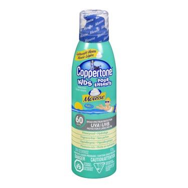 Coppertone Kids Sunscreen Mousse SPF 60