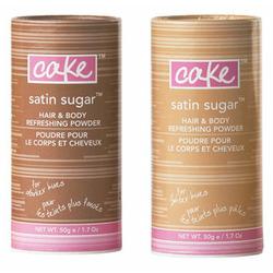 Cake Satin Sugar Hair and Body Refreshening Powder for Darker Hues