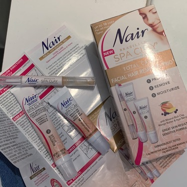 Nair Brazilian Spa Clay Face and Bikini Wax Strips