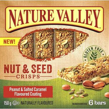Nature Valley Nut & Seed Crisps Peanut & Salted Caramel Flavoured Coating