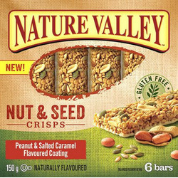 Nature Valley Nut & Seed Crisps Peanut & Salted Caramel Flavoured Coating