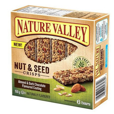 Nature Valley Nut & Seed Crisps Almond & Dark Chocolate Flavoured Coating