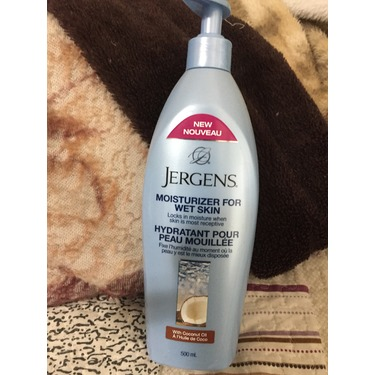 Jergens Moisturizer for Wet Skin with Coconut Oil
